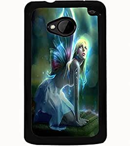 ColourCraft Angel Design Back Case Cover for HTC ONE M7