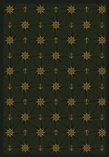 Joy Carpets 1515G-03 Mariner s Tale Emerald 10 ft.9 in. x 13 ft.2 in. 100 Pct. STAINMASTER Nylon Machine Tufted- Cut Pile Whimsy Rug