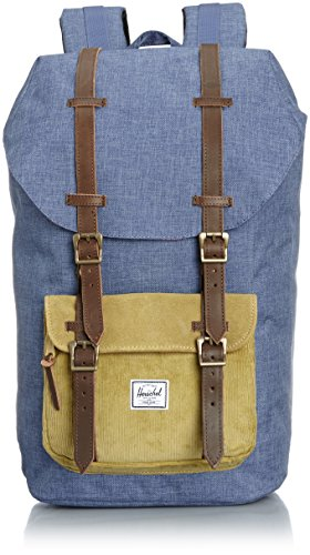 [ハーシェルサプライ] Herschel Supply 公式 LITTLE AMERICA 10014-00515-OS CROSSHATCH NAVY/STRAW (CROSSHATCH NAVY/STRAW)
