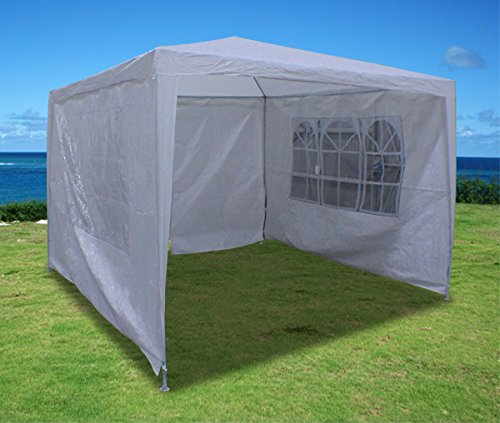 New 10'X10' Outdoor Party Wedding Tent Gazebo Events Pavilion - White front-1007024