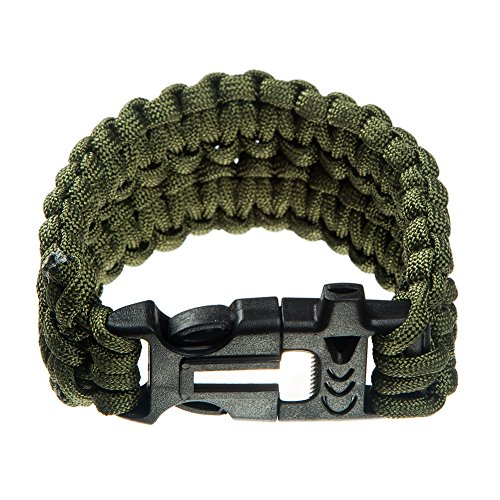 5 Pack Trilobite Extra Beefy Wide Paracord Survival Bracelet - Survival Kit with Flint Fire Starter Fire Scraper Whistle - Assorted Color Extra Wide Bracelet Combo