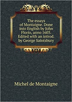 montaigne essays english