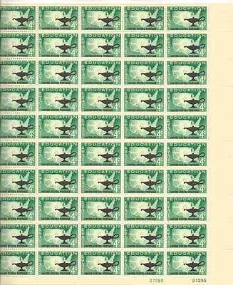 Higher Education Sheet of 50 x 4 Cent US Postage Stamps NEW Scot 1206