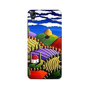 MOBICTURE Pattern Premium Designer Mobile Back Case Cover For HTC Desire 728