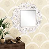 Home Sparkle Engineered Wood Wall Mirror (60 Cm X 1.5 Cm X 60 Cm, Golden White, Sh1130)