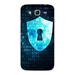 Delighted Digital Secure Print Blue Back Case Cover for Galaxy Mega 5.8