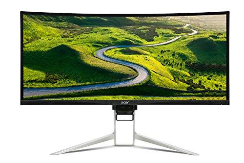 """Acer Predator XR342CKbmijpphz Monitor, 34"""" IPS, Risoluzione 3440x1440, Luminosità 300 cd/m2, Tempo di Risposta 5 ms, Argento"""