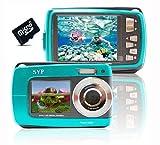 SVP Blue Aqua5500 (Free Micro 8GB) 18MP Underwater Digital Camera with Two Screens