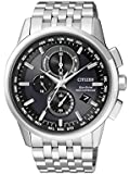 Citizen Herren-Armbanduhr RADIO CONTROLLED Chronograph Quarz Edelstahl AT8110-61E