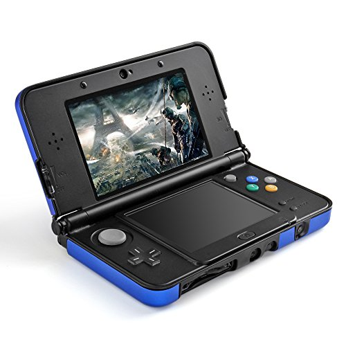 TNP 3DS XL LL Case (Blue) - Full Body Protective Snap-on Hard Shell Aluminium Plastic Skin Cover for Nintendo 3DS XL LL 2012 Original Model (Dsi Protective Case compare prices)