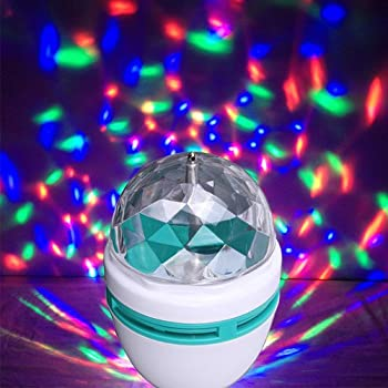 Amazon – LED Full Color 360 degree Rotating Crystal Lamp @ 155 with shipping-Lowest