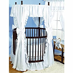 Amazon.com : Baby Doll Bedding Carnation Eyelet Round Crib Bedding Set ...