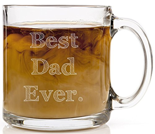 Father's Day Mugs Best Dad Ever Funny, Novelty Gift Coffee Cup 13 oz - Unique, Cool Birthday Present Idea For Friend, Grandpa, Husband, Father-In-Law, Stepdad or Brother from Son, Daughter or Kids.