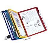 Durable Sherpa 10-Panel Desktop Reference System with Border Panels of Assorted Colors (DBL554200)
