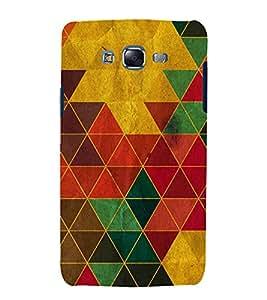 Multi colour Triangular Wallpaper 3D Hard Polycarbonate Designer Back Case Cover for Samsung Galaxy J7 J700F (2015 OLD MODEL) :: Samsung Galaxy J7 Duos :: Samsung Galaxy J7 J700M J700H