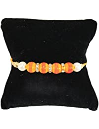BOGATCHI Pearl And Stone Designer Rakhi With FREE Roli Chawal, Rakhi For Brother, Rakhi Gift For Brother, Classic...
