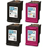 2x Genuine Original HP 301 Black & Colour Ink Cartridges For use with HP Officejet 4630 Printers