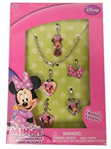 Minnie mouse mm469 jewelry set in a box toys for Minnie mouse jewelry box