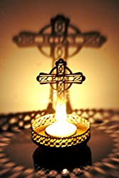 Hashcart Shadow Cross Jesus Tea Light Candle Holder for Home Décor