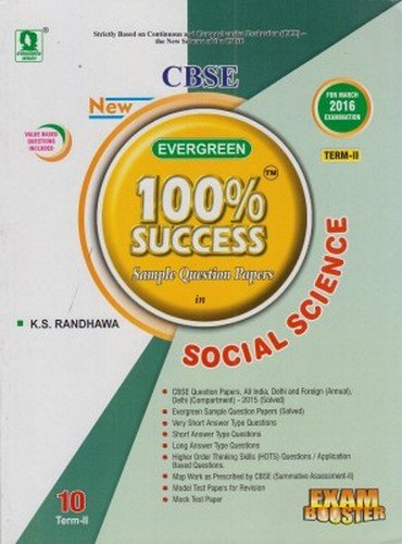 cbse evergreen 100 % success sample papers in Social Science term -2 for class 10
