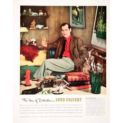 1951 Ad Lord Calvert Blended Whiskey Stevan Dohanos Bluestone Pagano Artist   Original Print Ad