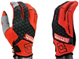Risk Racing Carbide Moto Gloves (Black/Red, Large)