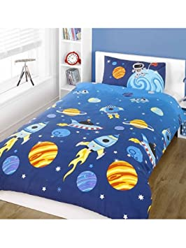 Twin Outer Space Duvet Cover