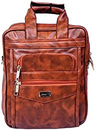 "Stylish 10.5"" Faux Leather I-Pad Sleeve Messenger Sling Office Bag By-Widnes"