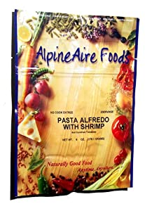 AlpineAire Foods Pasta Alfredo with Shrimp and Sun-Dried Tomatoes