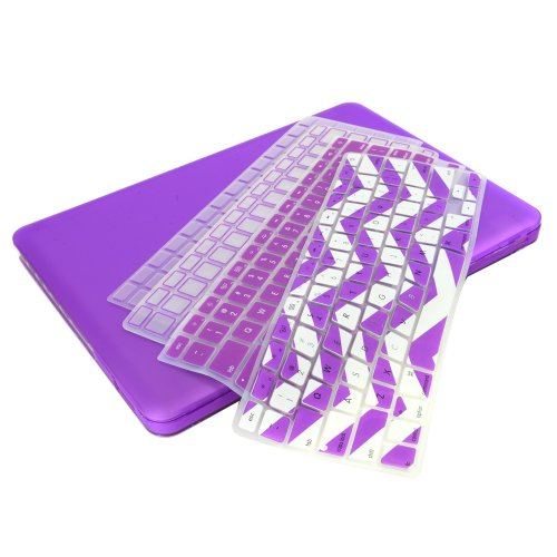 #!  UHURU Great Deal Bundle for Apple Macbook / Macbook Pro with or without Retina Display - Ultra Slim Rubberized Hard Case + 4 Different Styles Silicone TPU Chevron Keyboard Covers (Macbook Pro 13