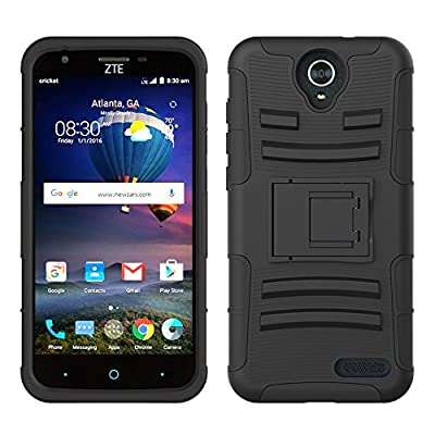 ZTE Grand X3 Case, LK [Heavy Duty] Shock Absorption Armor Holster Defender Full Body Protective Hybrid Case Cover with Belt Clip for ZTE Grand X3 from LK