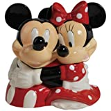 Disney Themed Cookie Jar Container with Mickey & Minnie Mouse Hugging