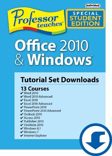 Professor Teaches Office 2010 & Windows Tutorial Set - Academic [Download]