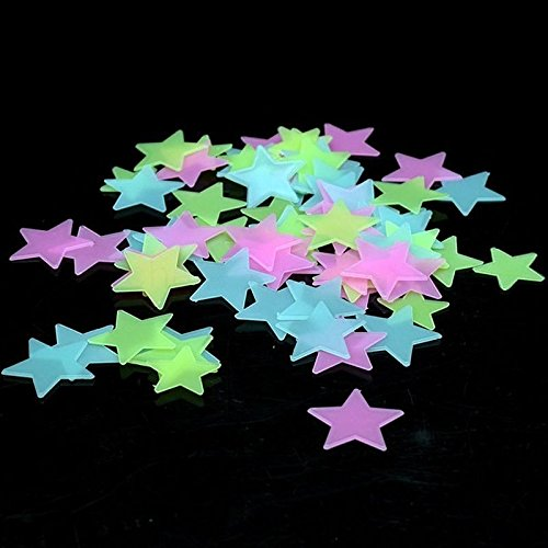 Home Wall Glow Dark Stars Heart Stickers 100x Home Wall Ceiling Large Glow In The Dark Stars Stickers Decal for Baby Kid set01