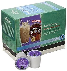 Donut Shop Coffee Sweet & Creamy Nutty Hazelnut Iced Coffee K-Cups (44 K-Cups)
