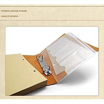 JOLIN Vintage Vellum Paper Journal Refillable Notebook-Creative Gift for Carrying Memory,Dandelion