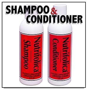 Nutrifolica Hair Loss Shampoo & Volumizing Conditioner Combo - No Sulfates