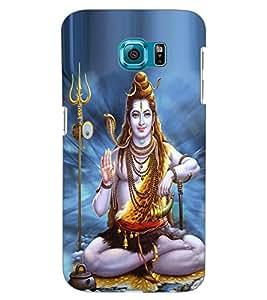 ColourCraft Lord Shiva Design Back Case Cover for SAMSUNG GALAXY S6 EDGE G925