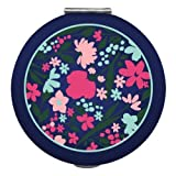 2345 Compact Mirror - Navy Floral - light weight they have two mirrors one regular and one magnified