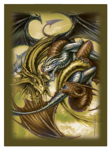 Ultra Pro Trinity Dragon Gold Small-Size Deck Protectors (60 Sleeves)