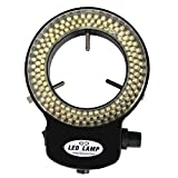 Stereo Microscope Ring Light - SODIAL(R)144 LED Ring Light Adjustable illuminator Lamp for Stereo Microscope + Adapter, Black