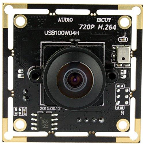 ELP 720p Volle HD H.264 USB-Kamera-Module Support Android Linux-Windows-Betriebssystem für die Videoüberwachung (170degree Fisheye Objektiv)