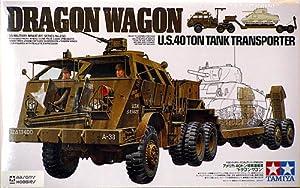 "Tamiya 1/35 U.S. 40 Ton Tank Transporte - Dragon Wagon"" """