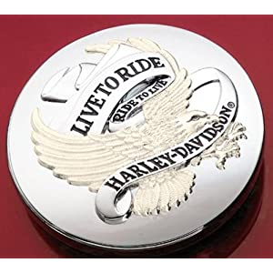 Harley Davidson Live To Ride Fuel Cap Cover Medallion 99020-86T