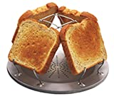 Camp Stove Toaster, Toasting Up to Four Slices at a Time. Folds to Dinner Plate Size, 9-inch Diameter