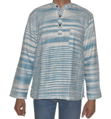 Casual Wear Indian Khadi Mens Short Kurta Fabric For Winter & Summers Size XL