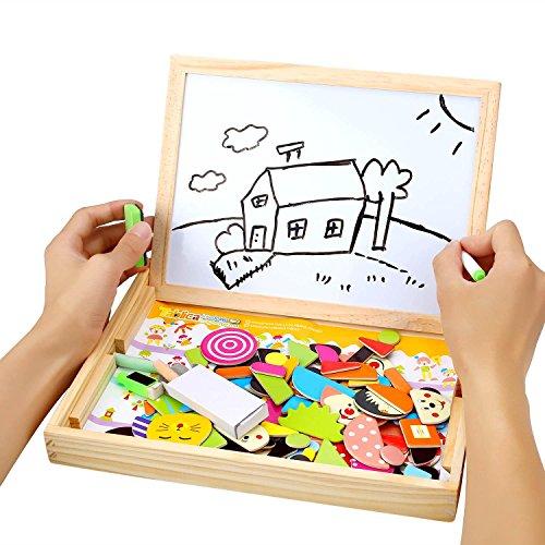 billig peradix magnetische puzzle spiele lernspiel tafel aus holz beideseitige schreibtafel f r. Black Bedroom Furniture Sets. Home Design Ideas