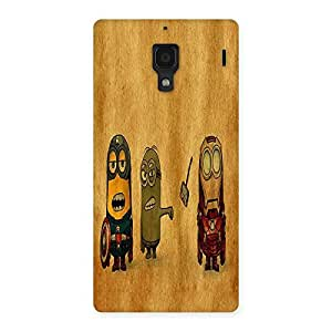 Ajay Enterprises Fill Heroes Friends Back Case Cover for Redmi 1S