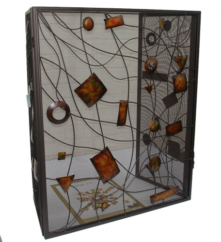 Three Fold Contemporary Fire Screen