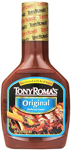 Tony Roma's Barbecue Sauce Original, 21-Ounce Unit (Pack of 6)